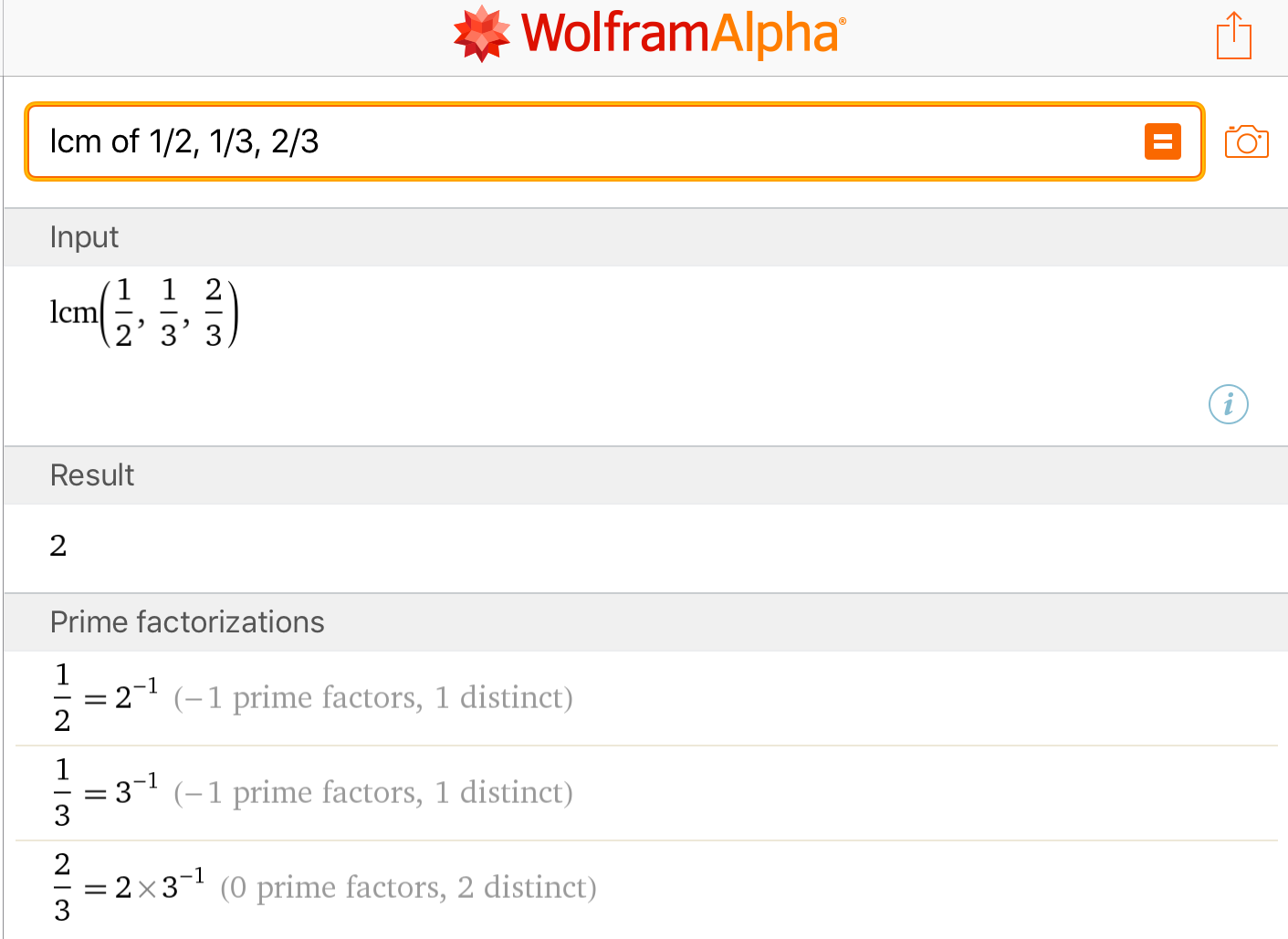 Fractions LCM: Mathway vs WolframAlpha | Fractions, Prime ... on