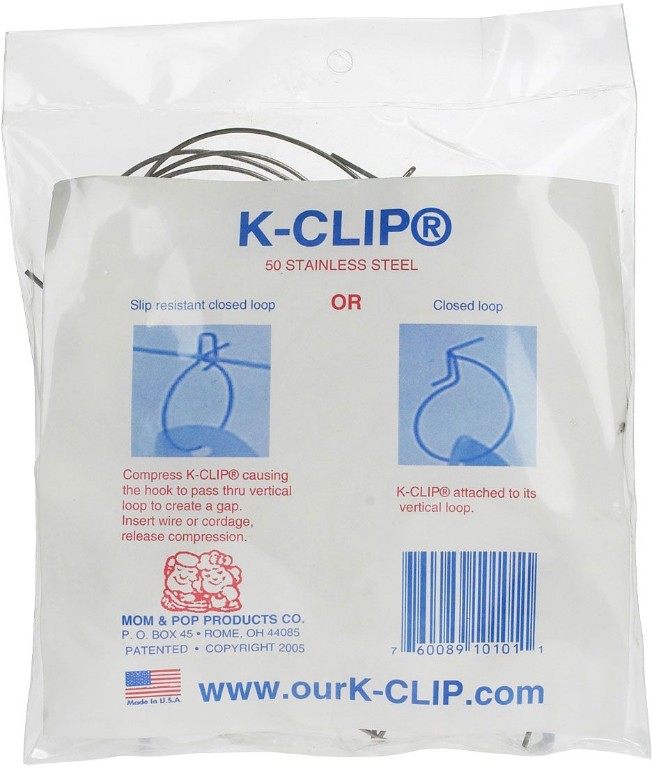 Stainless Steel K-Clip Wire Form Fastener - 50 ct | Electric fencing ...