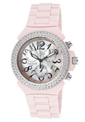 c6917fe6ea1 Lancaster Italy Women s Diamond Chronograph Pink Dial Pink High Tech Ceramic