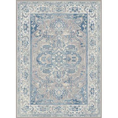 Darby Home Co Dixon Blue Area Rug Rug Size: 5'2'' x 7'6''