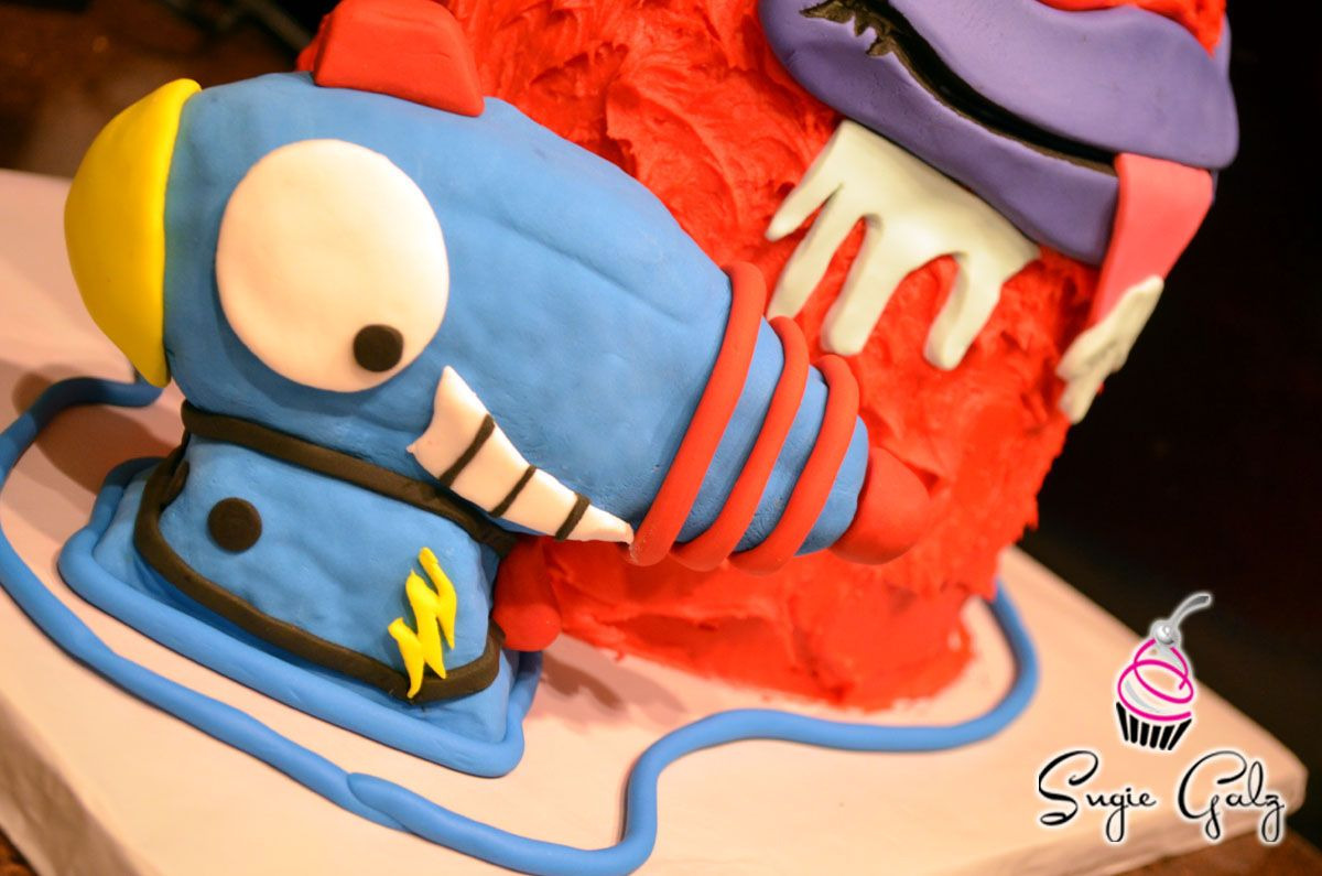 Fun Trash Pack Themed Birthday Cake and Character Gun by Sugie Galz