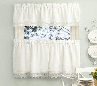 Curtain Bath Outlet Sophia Macrame Tier Curtain