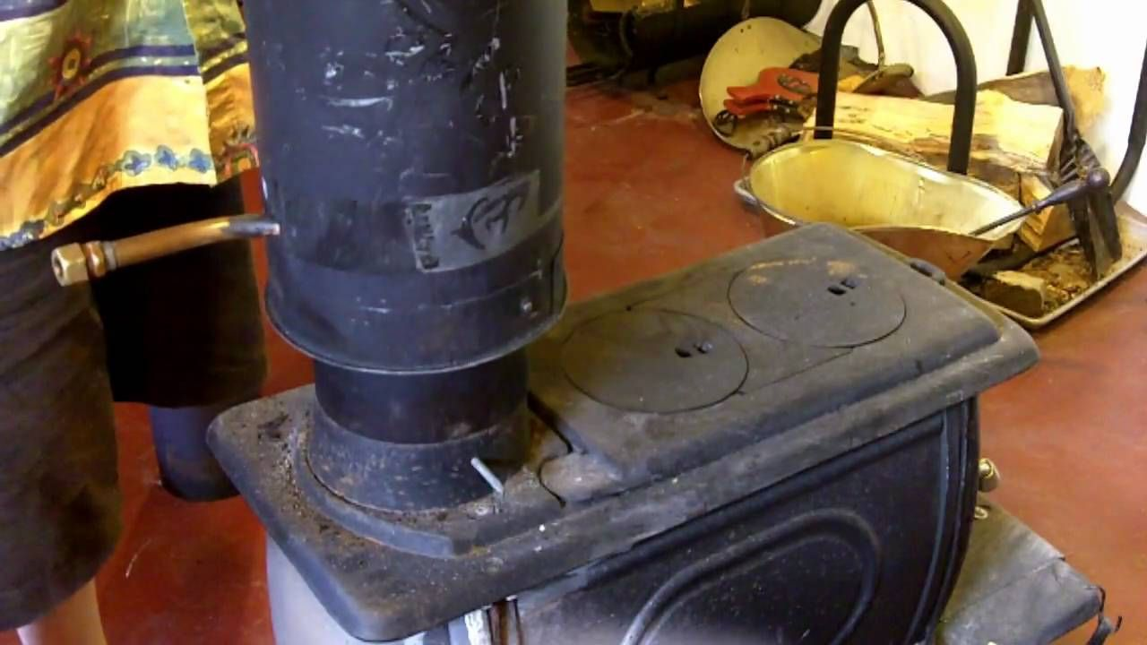 Hot Water From Your Wood Stove We Recently Purchased A Wood Stove From Menards Mainly For The Ele Wood Stove Water Heater Water Heating Systems Water Heating