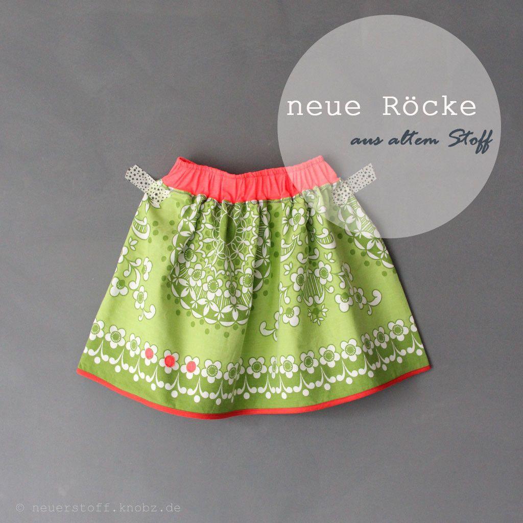Neue Röcke ::: aus altem Stoff   Bettwaesche, Upcycling und Rock
