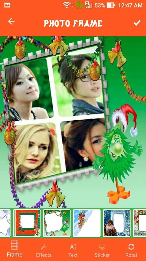 decorate your photos for xmas add online christmas frames effects apply festive filters make personalized new year cards and party invitations