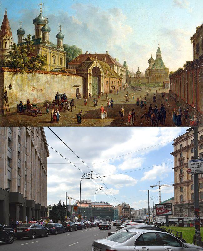 старая сравнение москва фотографии
