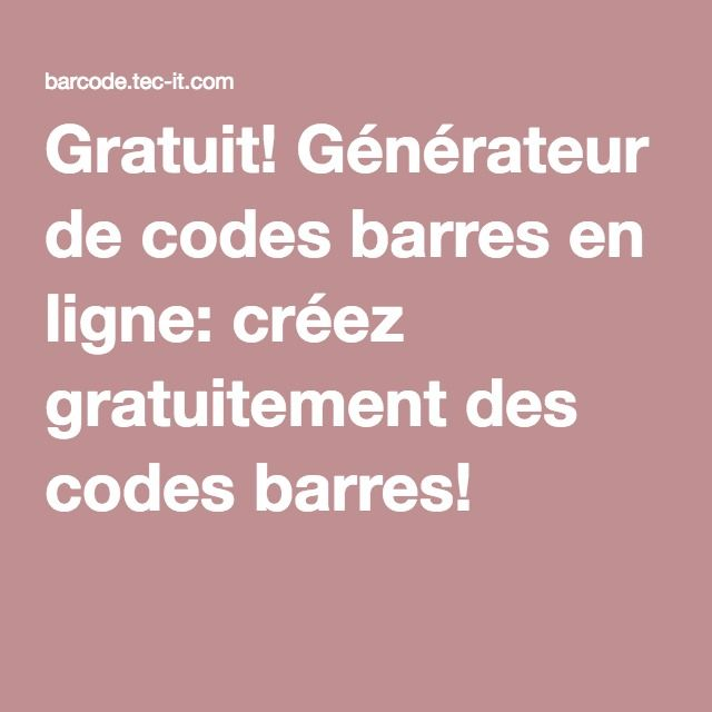 gratuit g n rateur de codes barres en ligne cr ez gratuitement des codes barres escape game. Black Bedroom Furniture Sets. Home Design Ideas