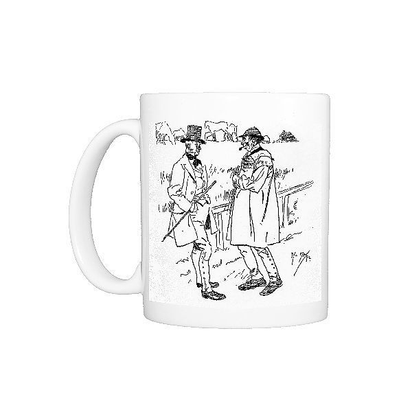 Photo Mug-Drunk Yokel protests his innocence to local landowner-Ceramic dishwasher safe mug made in the UK