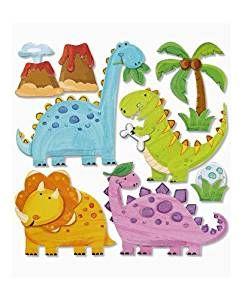niedliche dinos dinosaurier deko auch f r fenster schr nke t ren etc kinderzimmer. Black Bedroom Furniture Sets. Home Design Ideas