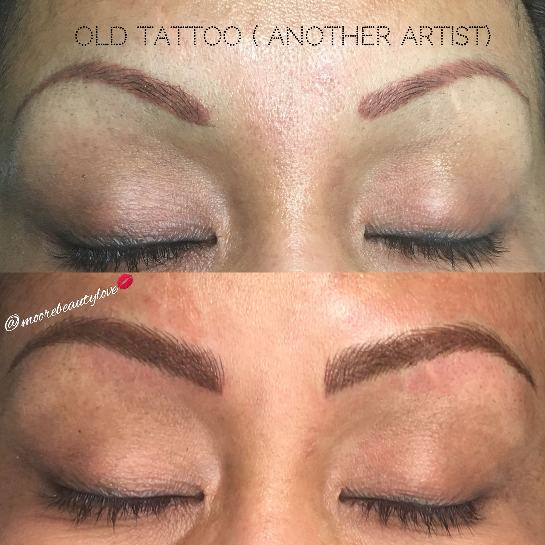 It Is Possible To Cover An Old Tattoo With Microblading And Shading