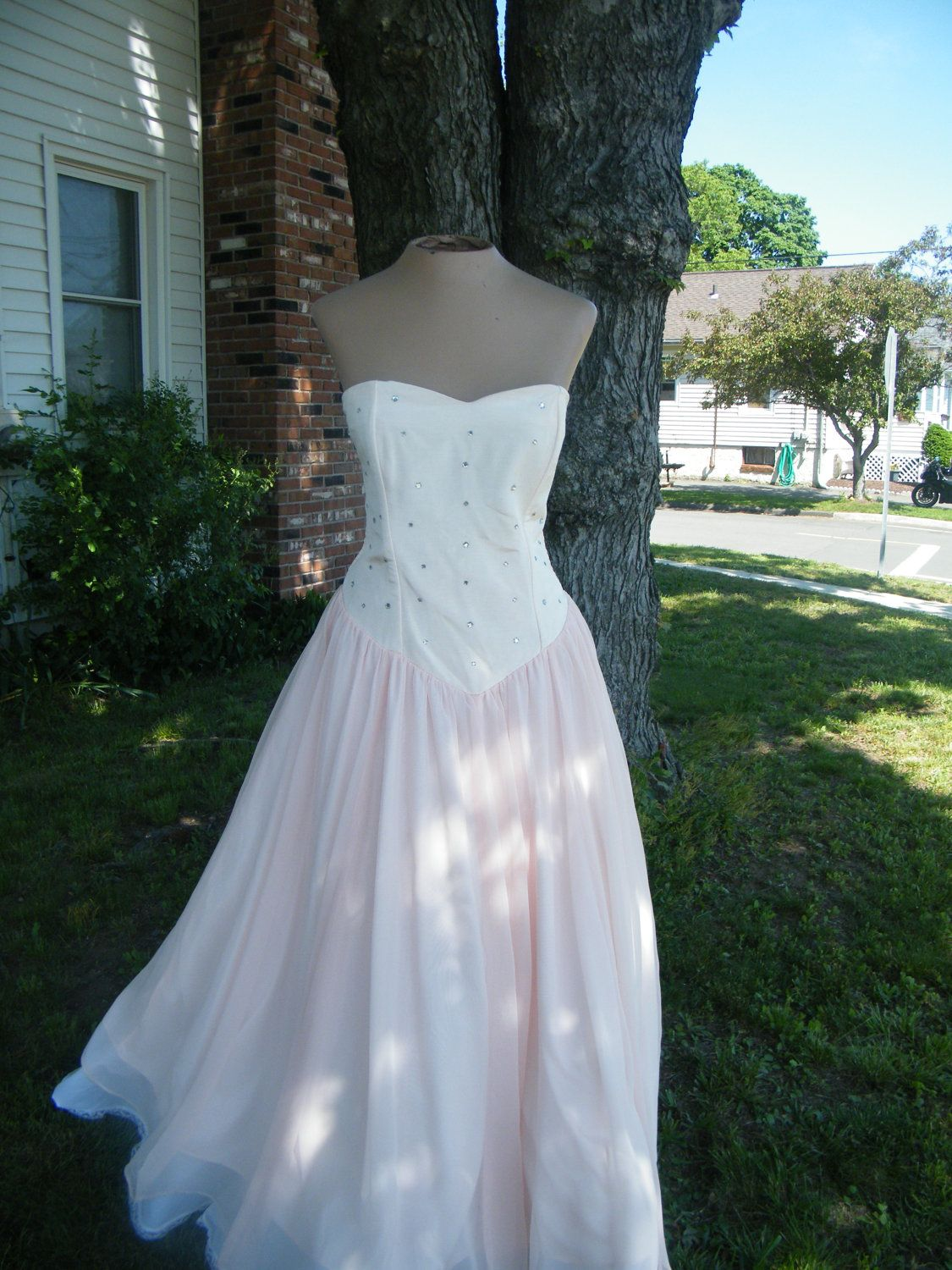 Clearance 1980\'s Vintage Prom Dress. 50\'s and 60\'s Style Pink ...