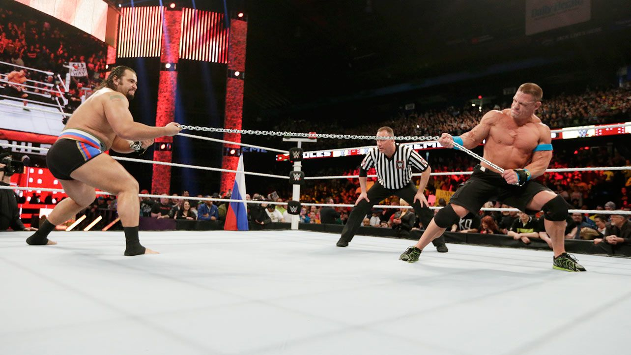 Extreme Rules 2015 John Cena vs Rusev Russian Chain