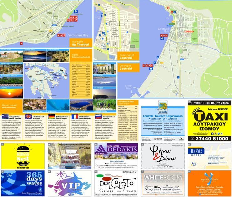 Loutraki tourist attractions map Maps Pinterest City