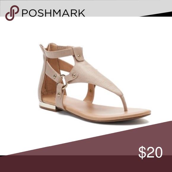 8d93acf07db Womens apt 9 gladiator sandals nude NIB Hardware accents SANDAL  CONSTRUCTION Polyurethane