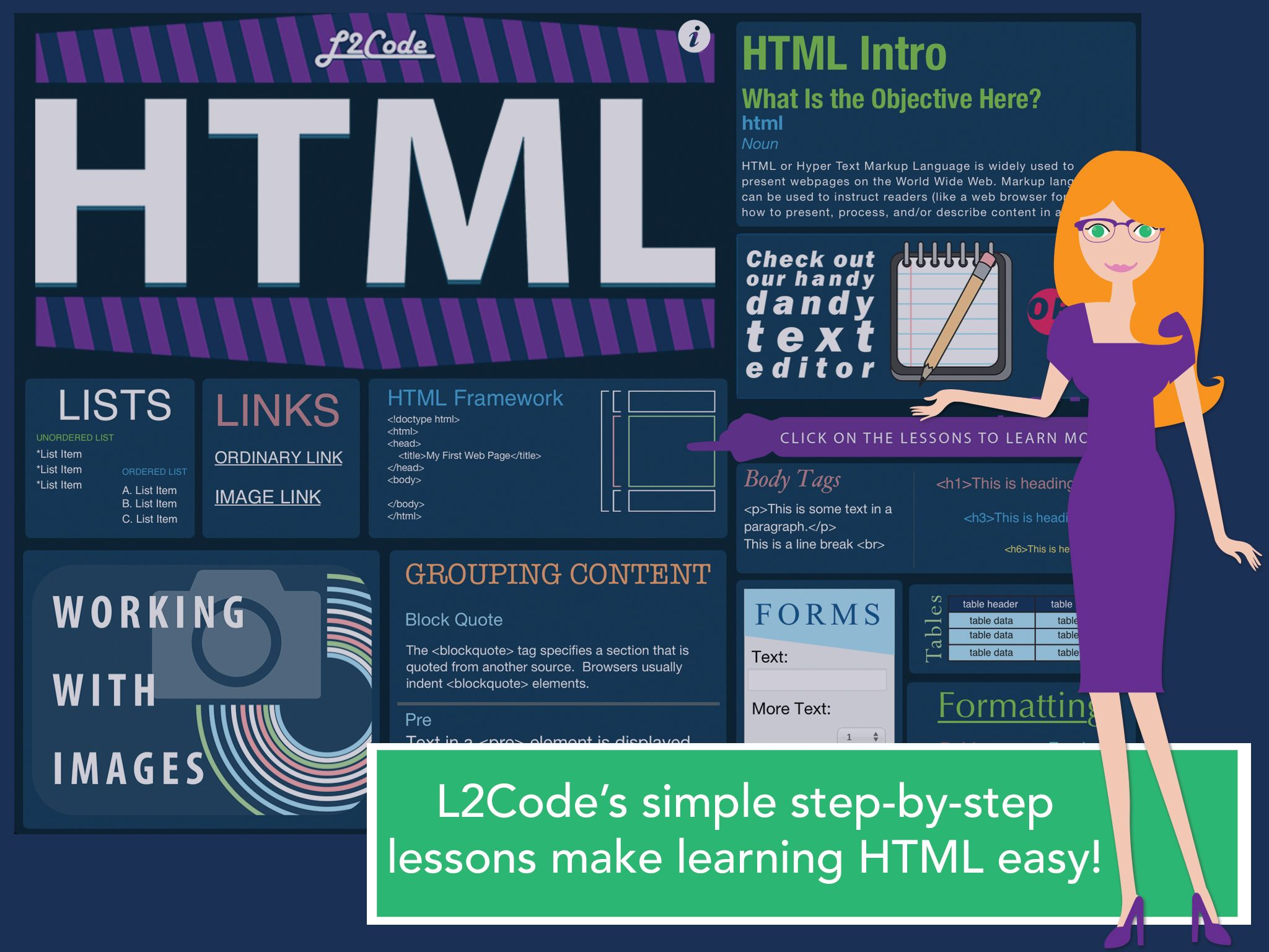 L2code Html S Simple Step By Step Lessons Make Learning Html Easy