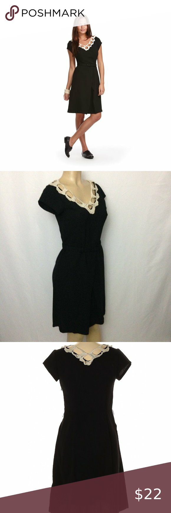 Libertine For Target Black Dress Size 11 Black Dress Dresses Short Sleeve Dresses [ 1740 x 580 Pixel ]