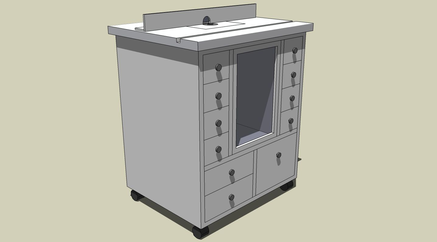 Router Table - SketchUp   Garage tips   Pinterest