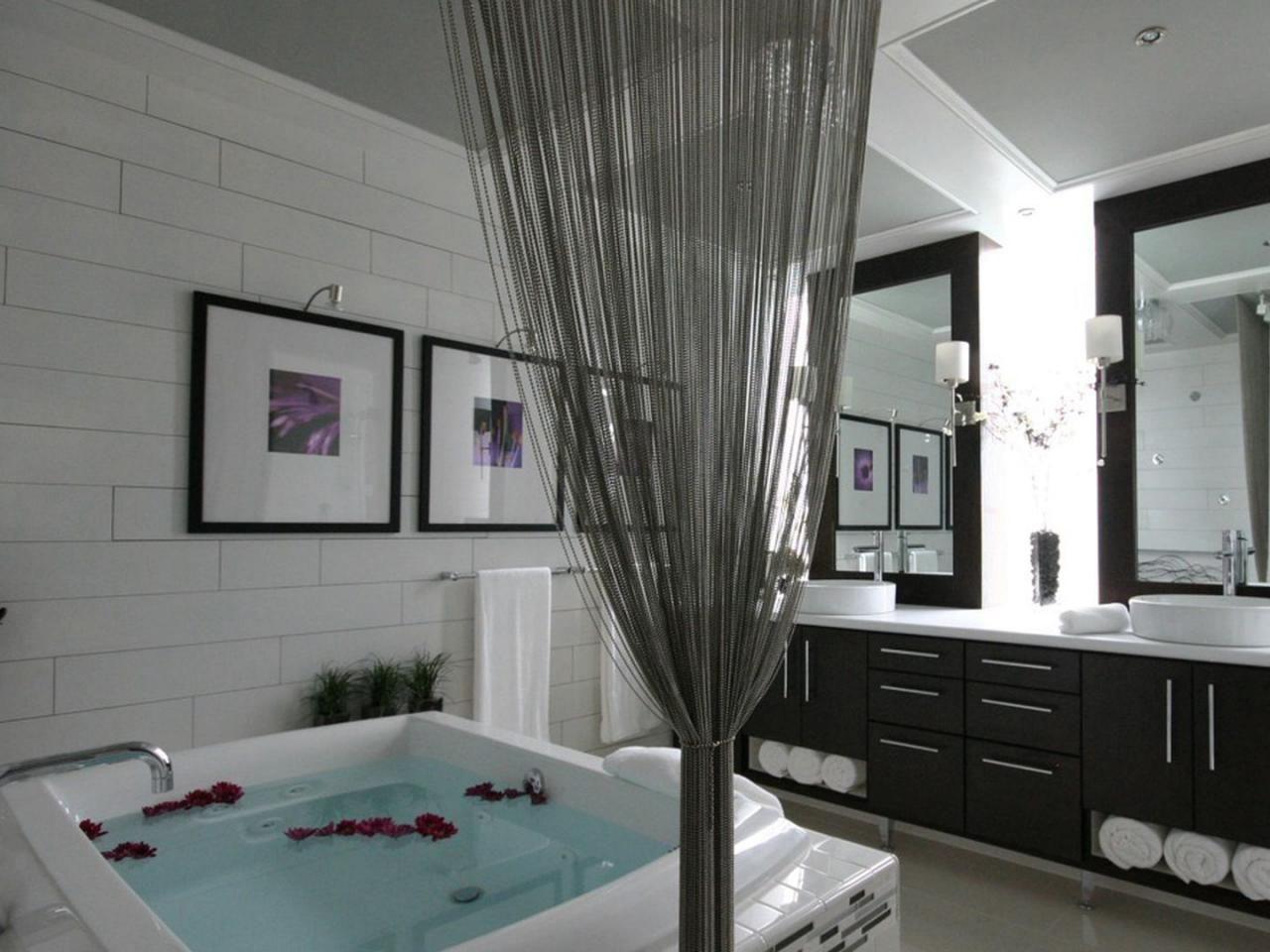 Bathtub Design Ideas Badewanne Schwarze Vorhange Wanne