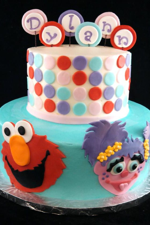 Elmo And Abby Cadabby Cake Dylanns Nd Bday Pinterest Elmo - Elmo and abby birthday cake