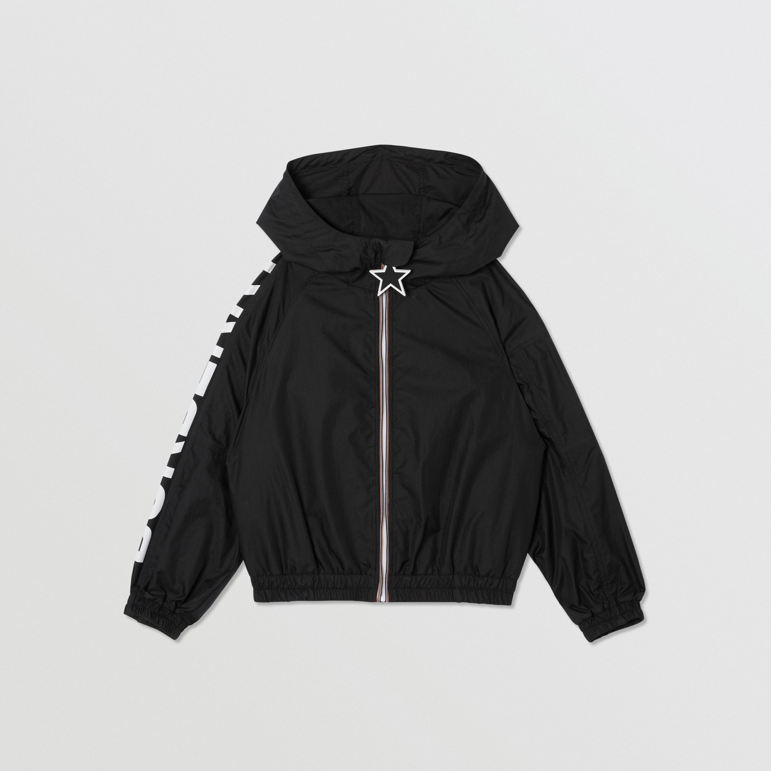 Star Detail Logo Print Lightweight Hooded Jacket In Black Burberry United States Ad Affiliate Print Lightweig Black Outerwear Burberry Kids Boys Coat [ 2500 x 2500 Pixel ]