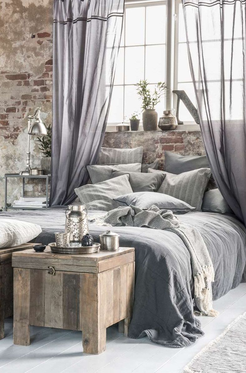 Grey Bedroom Industrial But Feminine Coastal Rustic Pinterest Gray Bedroom Feminine