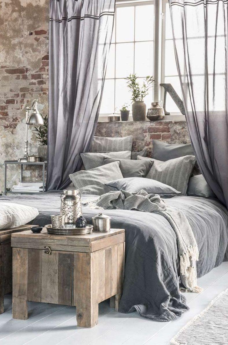Grey bedroom | industrial but feminine | COASTAL CABIN | Industrial ...