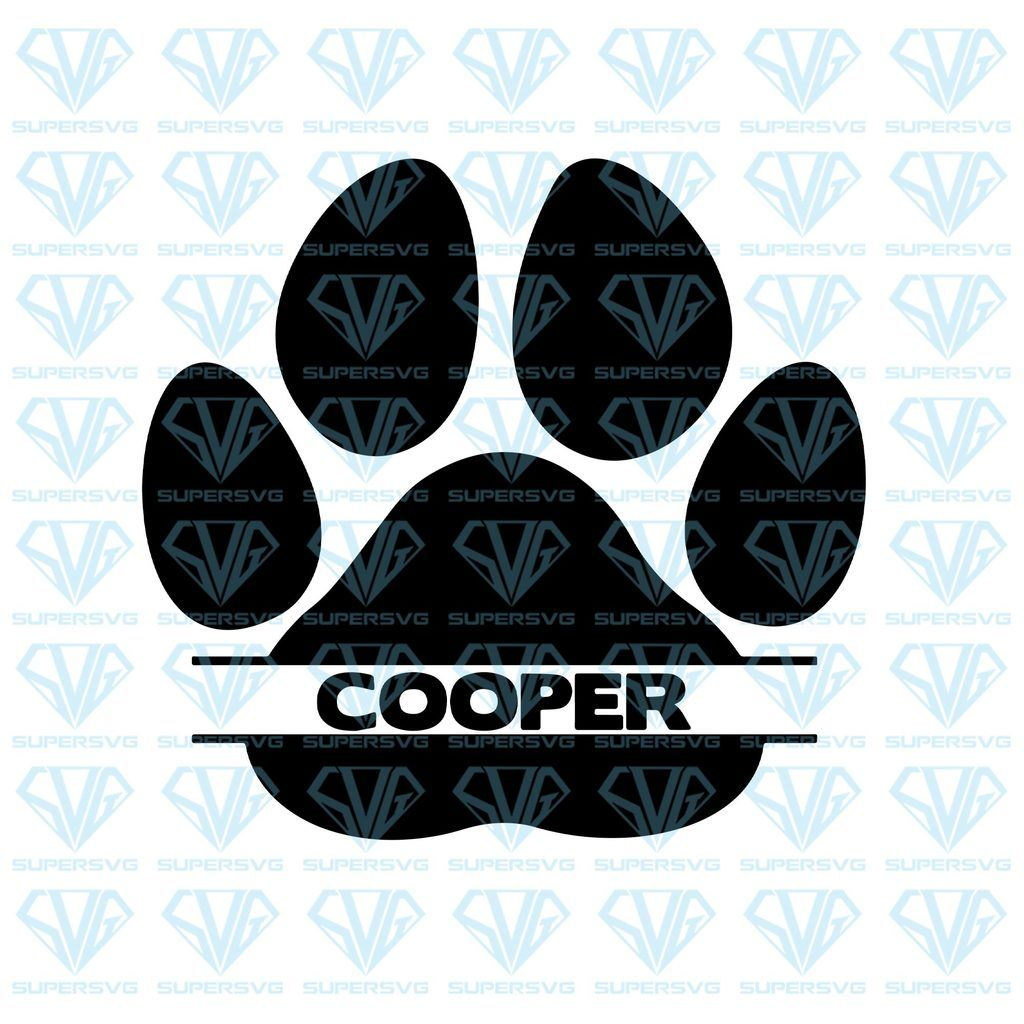 Paw Print Name Svg Files For Silhouette Files For Cricut Svg Dxf Eps Png Instant Download Paw Print Svg Cricut Svg