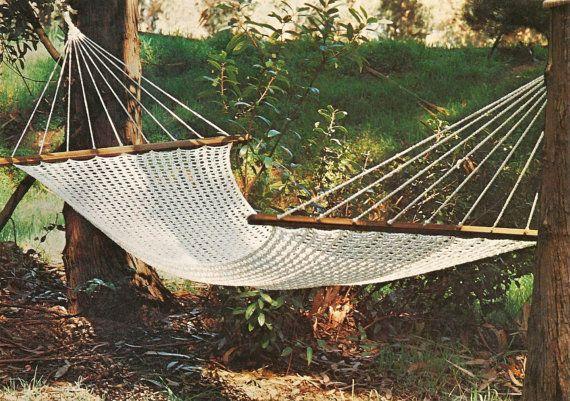 crochet macrame hammock pattern