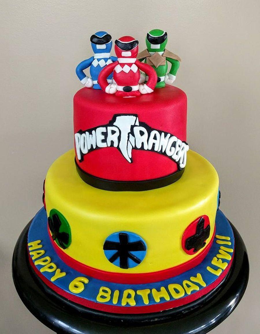 Power ranger power rangers birthday cake power ranger