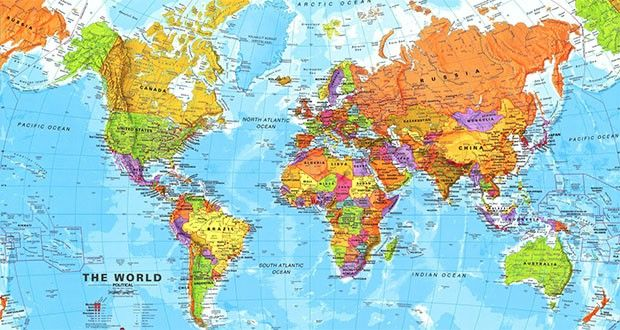 Free Hd Political World Map Poster Wallpapers Download World map - new world map software download for mobile