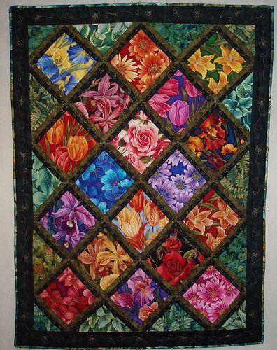 Window to My Garden II   quilting   Lap quilt patterns, Beginner