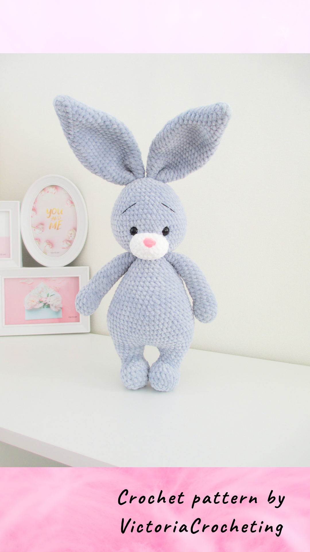 CROCHET PATTERN bunny, Amigurumi tutorial, mothers