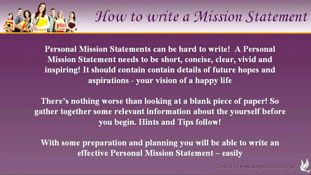 Student Mission Statement Examples Inspirational Examples