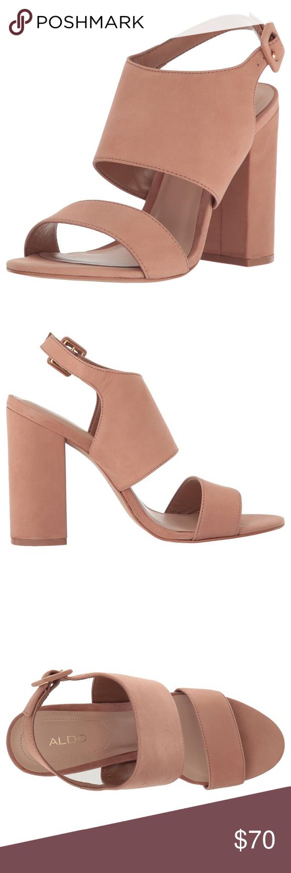 0c9aab9440e Tan block heel sandal size 6 ALDO Size 6 ALDO Elise sandal. Worn once!