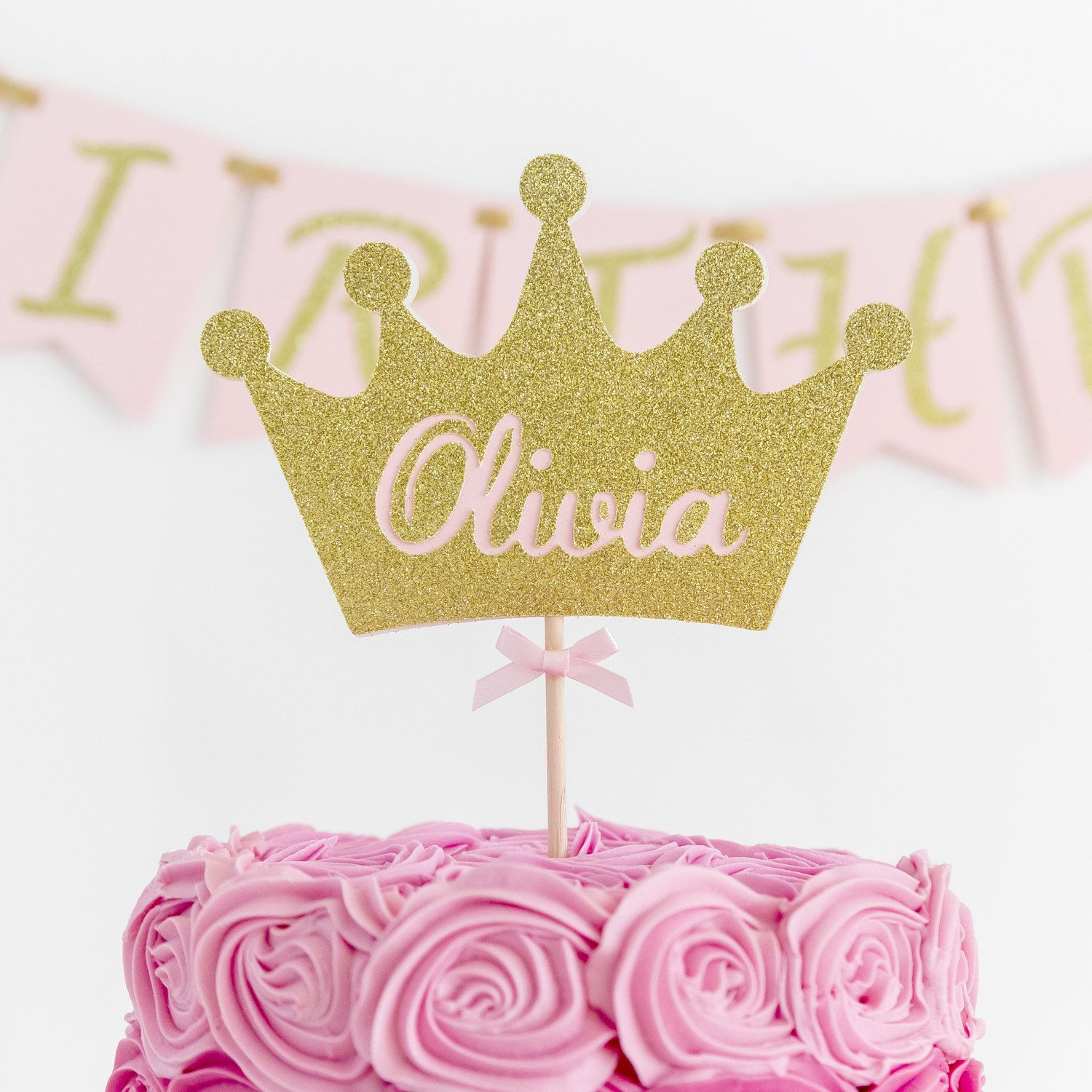 Crown cake topper Custom cake topper First birthday party