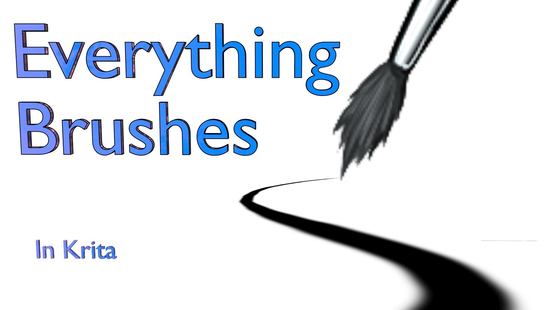 Everything Brushes in Krita  This tutorial covers exactly what the