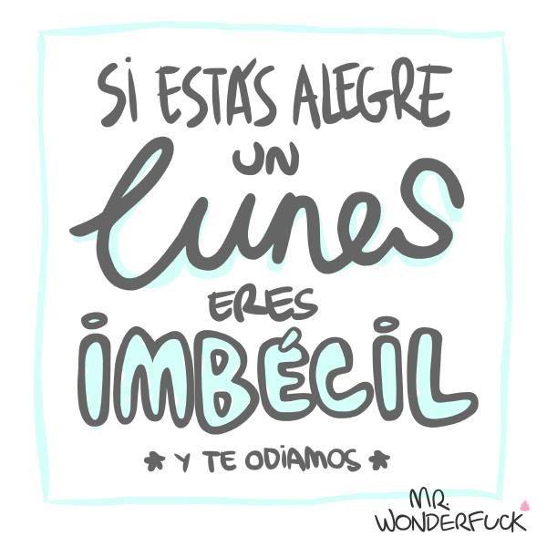Mr Wonderfuck Lunes Frases Chulas El Humor Y Memes