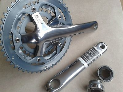 Shimano 105 chainset + bottom bracket #(new) #fc-5603 (175) 9/10 #speed 30+39+50t,  View more on the LINK: 	http://www.zeppy.io/product/gb/2/361511658788/