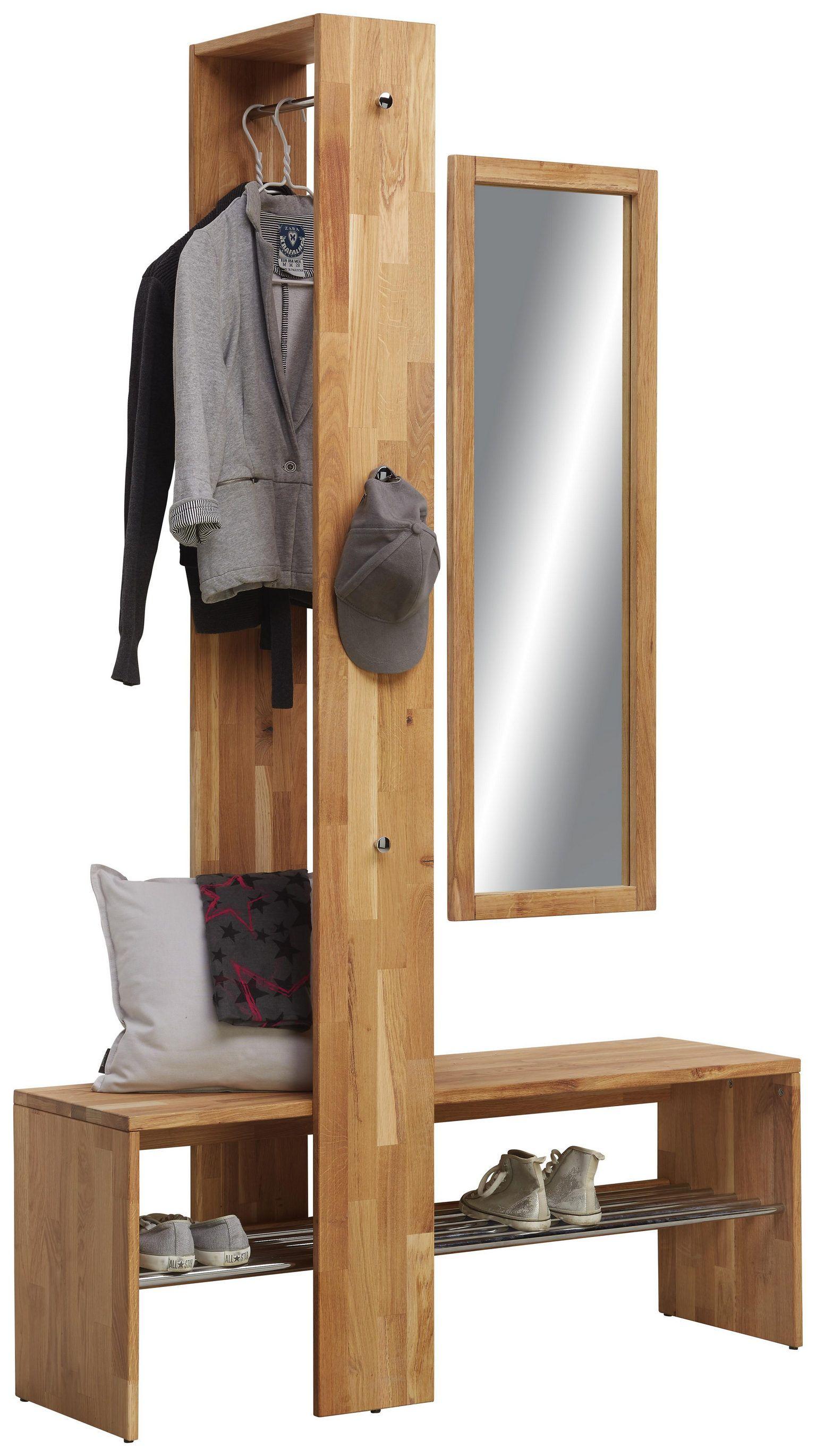 Garderoben-Set 3-tlg. aus Wildeiche massiv shoppen