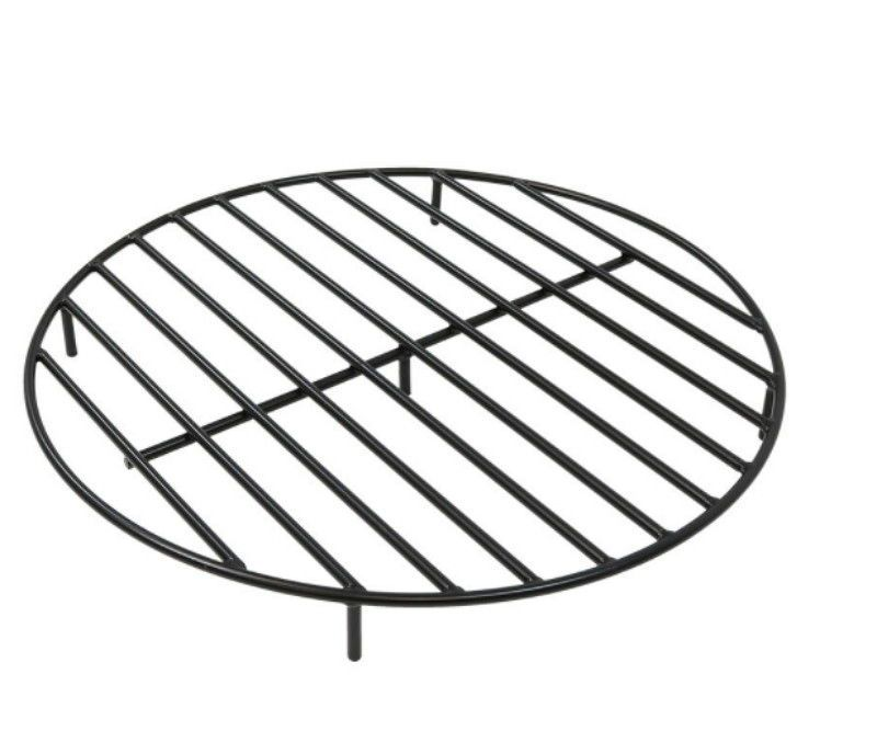 Details About Round Steel Outdoor 30 Inch Wood Burning Fire Pit Grate In Black Wood Burning Fire Pit Fire Pit Cooking Fire Pit Grate