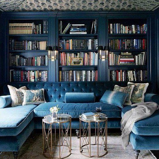 Merveilleux Marina Blue Velvet Sectional Sofa