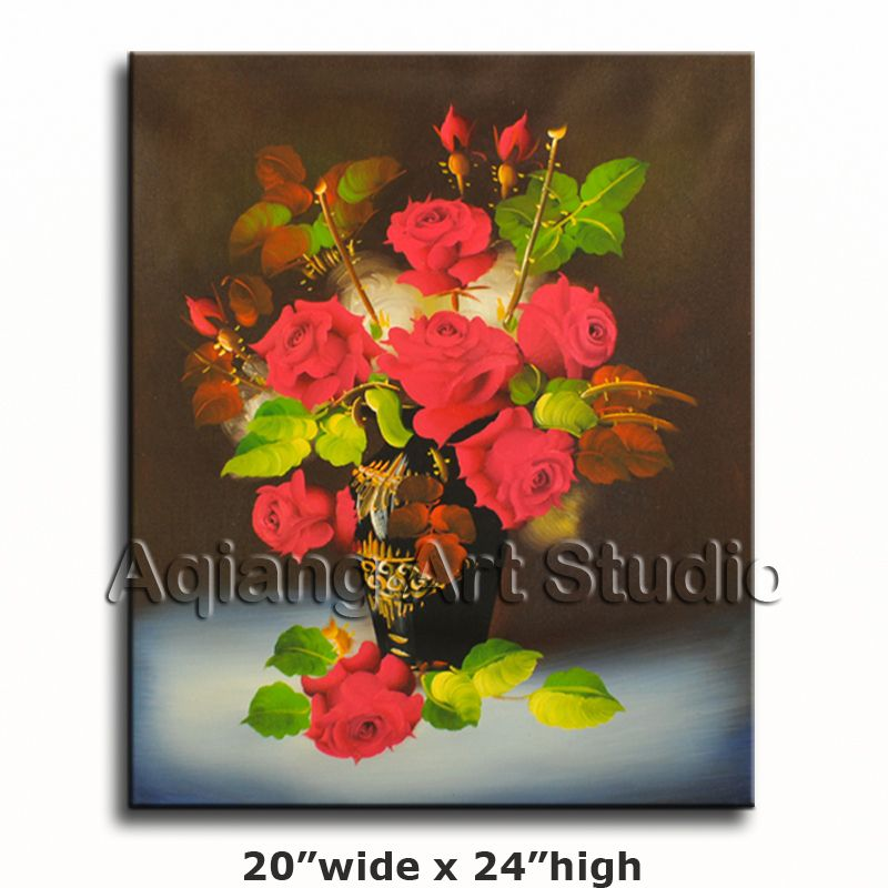 Handmade reproduction classic floral oil painting on canvas wall art not framed 42 99 discover more