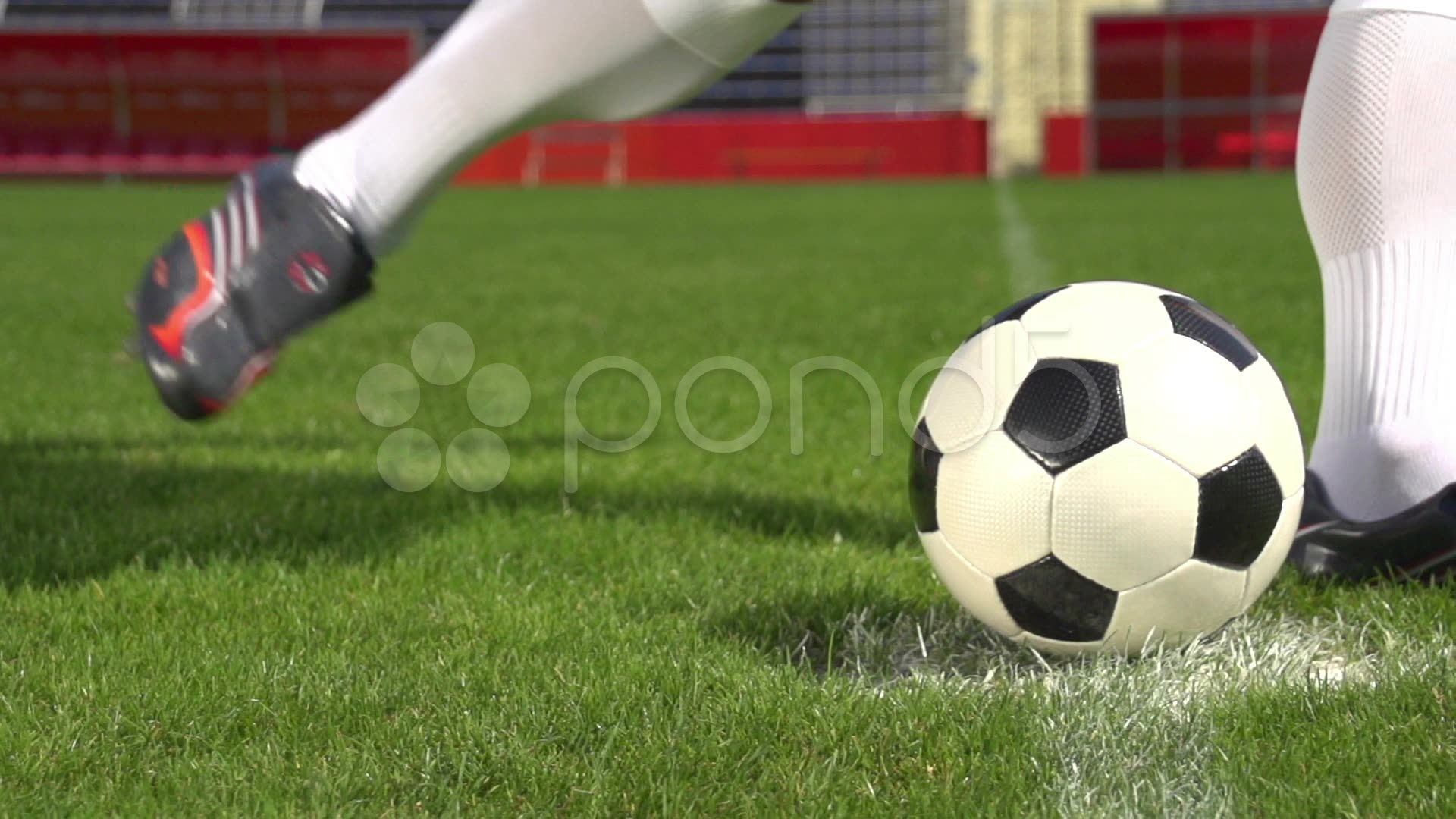 Close up slow motion soccer shot Stock Footage,motion