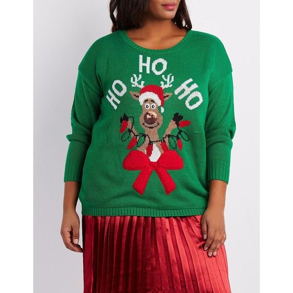 Charlotte Russe Up Ugly Holiday Sweater ($20) ❤ liked on Polyvore