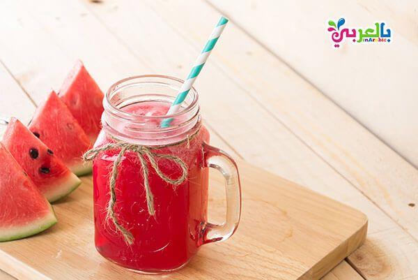 بالصور 7 عصائر تنعشك في الصيف تحضير عصائر طبيعية بالعربي نتعلم Watermelon Smoothies Watermelon Benefits Watermelon Juice