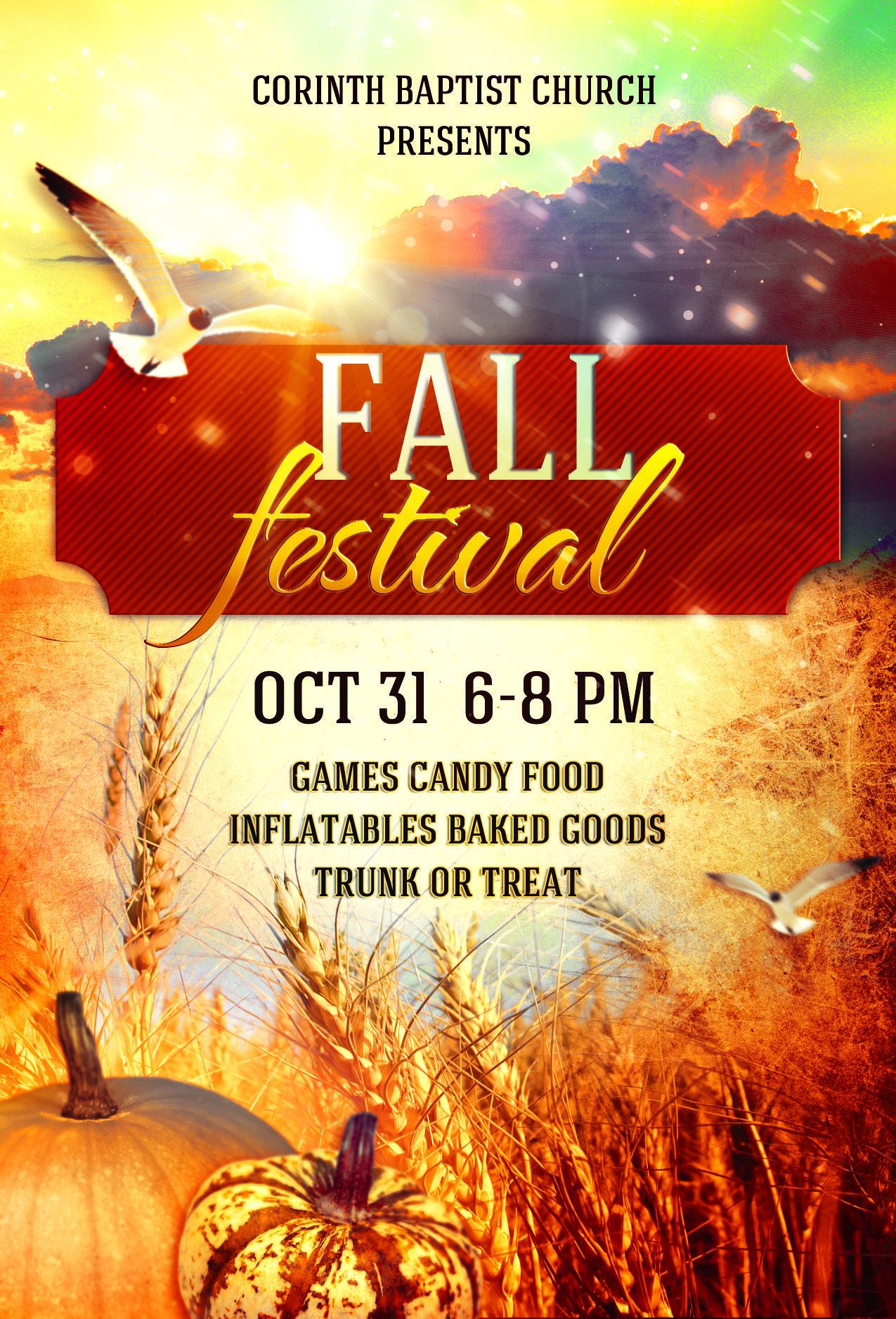 fall festival flyers templates