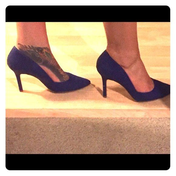 Extra Aldo pump photos Extra photos, excellent condition blue leather Aldo pumps, sz 10 EU 41 ALDO Shoes Heels