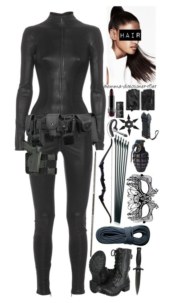 S.H.I.E.L.D. agent #10 by emma-directioner-r5er on Polyvore featuring Masquerade, Karl Lagerfeld, Kat Von D, H.R., Holster, POLICE, women's clothing, women's fashion, women and female