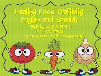 Healthy Food Craftivity English Spanish By Mynda Rivera 3 50