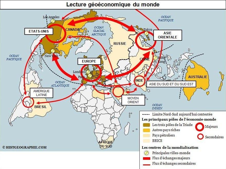 Villes Moteurs De La Mondialisation Afrique Carte